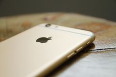 Silver Iphone 6 Royalty Free Stock Photos