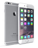 Silver iPhone 6 Stock Images