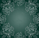 Silver ivy on green Royalty Free Stock Photos