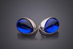 Silver jewelery earrings Royalty Free Stock Photos
