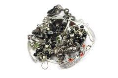 Silver jewelery Stock Photos