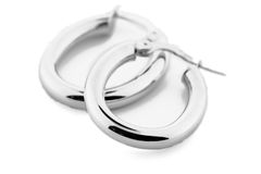 Silver Jewellery - Earrings stock images
