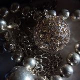 Silver Jewellery Royalty Free Stock Images