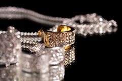 Silver jewelry Royalty Free Stock Photos