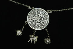 Silver jewelry. A silver jewelry for children Royalty Free Stock Photography
