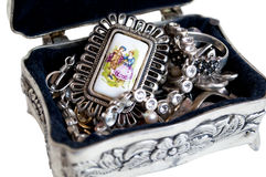 Silver jewelry Stock Photography