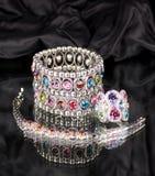 Silver jewelry Stock Photos