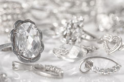 Silver jewelry. Stock Images