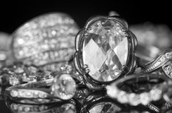 Silver jewelry. Royalty Free Stock Photography