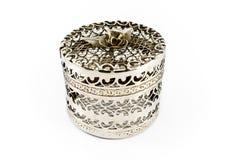 Silver jewelry box Stock Image