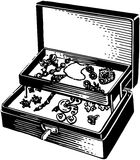 Silver Jewelry Box Royalty Free Stock Photos