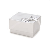 Silver jewelry box Stock Images