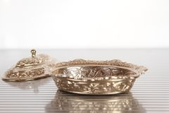 Silver jewelry box Royalty Free Stock Photography