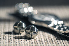 Silver jewelry Royalty Free Stock Image