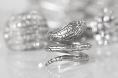 Silver jewelry. Stock Photography