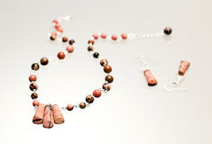 Silver jewels with colorful precious stones Royalty Free Stock Images