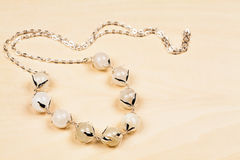 Silver jewels with precious stones Stock Photo