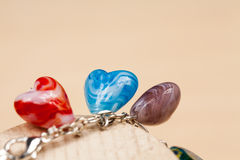 Silver jewels with precious stones Royalty Free Stock Images