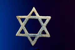 Silver Jewish star or Star of David Stock Photography