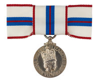 Silver Jubilee Medal Stock Images