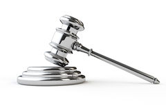 Silver justice gavel Stock Photos