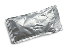 Silver Ketchup Packet Royalty Free Stock Photography