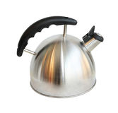 Silver kettle Royalty Free Stock Photo
