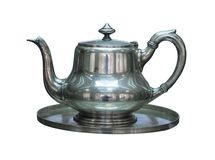 Silver kettle Stock Photography