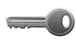 Silver key Royalty Free Stock Photography