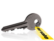 Silver key Royalty Free Stock Photos