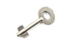 Silver key isolated Royalty Free Stock Images