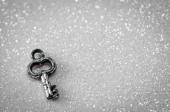 Silver key Royalty Free Stock Images