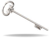 Silver key Stock Photography