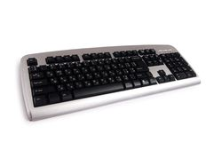 Silver keyboard isolated. On the white background Royalty Free Stock Photo