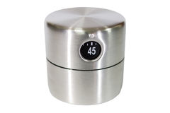 Silver kitchen cooking timer on white Royalty Free Stock Photography