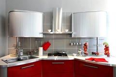 Silver kitchen counter Stock Photos