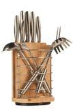 Silver kitchen utensils Stock Image