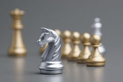 Silver Knight chess Royalty Free Stock Image