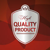 Silver label High Quality Product. Illustration Stock Images