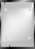 Silver Labels - Notepaper Stock Photo