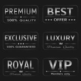 Silver Labels Royalty Free Stock Images