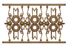 Silver lace ornament in 3d on isolated white background. Stock Images