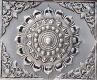 Silver lacquer Show flower art. Stock Photo