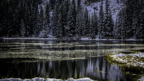 Silver Lake Calm and Serene Royalty Free Stock Images