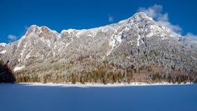 Silver Lake congelato nel parco provinciale di Silver Lake fotografie stock libere da diritti