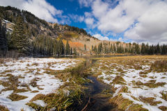 Silver Lake Cottonwood Canyon Royalty Free Stock Images