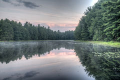 Silver Lake em Sullivan County Fotografia de Stock Royalty Free