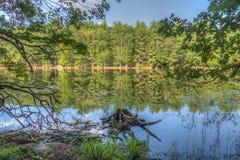 Silver Lake en Sullivan County photographie stock