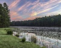 Silver Lake en Sullivan County photos stock
