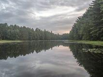 Silver Lake en Sullivan County Images libres de droits